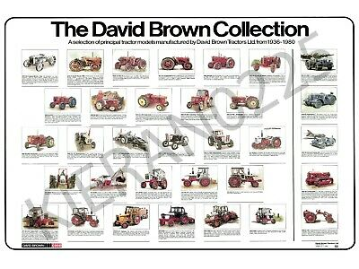 David Brown Case Tractor Poster Brochure 'The David Brown Collection' (A3)