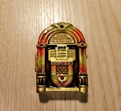 Estee Lauder Jay Strongwater White Linen Solid Perfume Jeweled Jukebox Compact