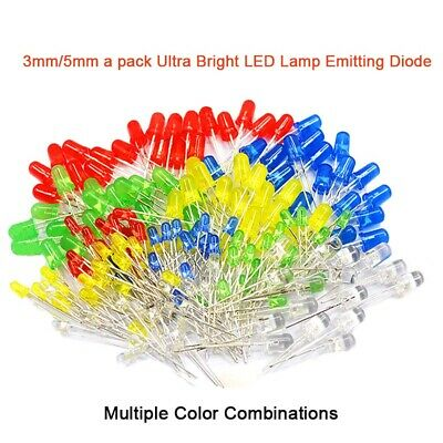 A pack 3mm/5mm Ultra Bright LED Lamp Emitting Diode Multiple Color Combinations