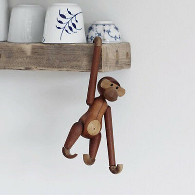 Modern Wooden Monkey Doll Toys Figurine Home Ornaments Rooms Decor DIY Craft AU