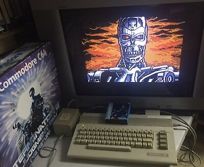Commodore 64 Terminator 2 bundle in box with game cartridge - C64 boxed computer