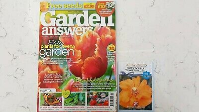Garden Answers Magazine - April 19 in Excellent Condition Includes Free Seeds