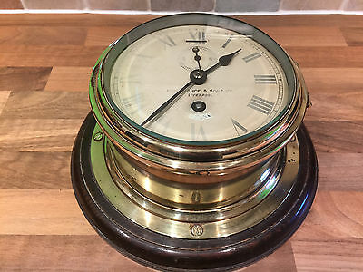 Vintage Brass Ships Clock Bruce Liverpool Maritime Marine Nautical Boat