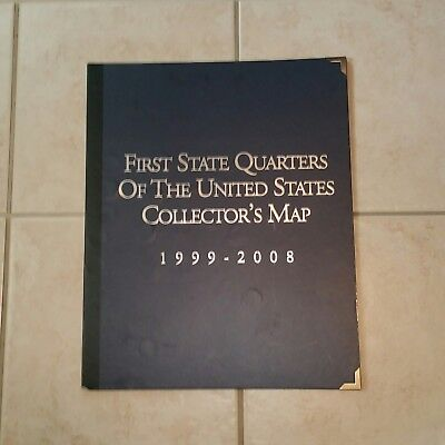 First State Quarters Collectors Map 1999-2008 (Complete )