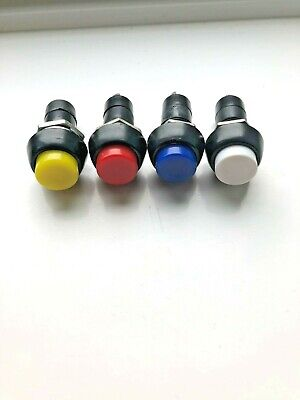 Mobility scooter light horn hazard button switch Red, Blue, Yellow, White