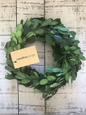 Mini Preserved Boxwood Wreath/ Candle Ring FARMHOUSE COUNTRY COTTAGE
