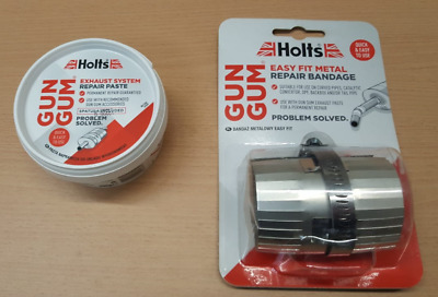 Holts Easy Fit Metal Exhaust Repair Bandage and Gun Gum Exhaust Paste Kit