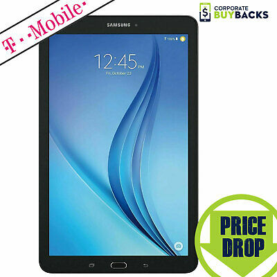 "Samsung Galaxy Tab E 8"" T377T 16GB, WiFi 4G T-Mobile GSM Tablet Black Cond 8/10"