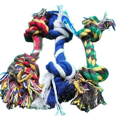 20cm Puppy Dog Pet Chew Toy Cotton Braided Bone Tug Play Game Rope Knot Toy US