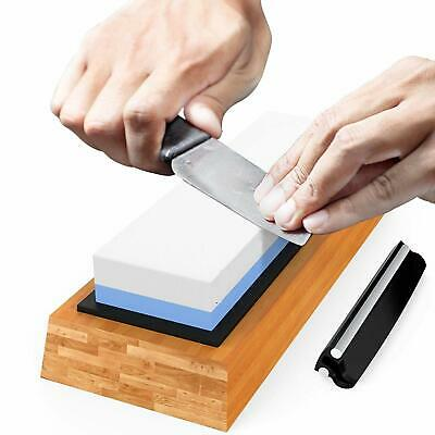 New Large Sharpening Oil Stone Dual Whetstone Double Sided Blade Sharpener