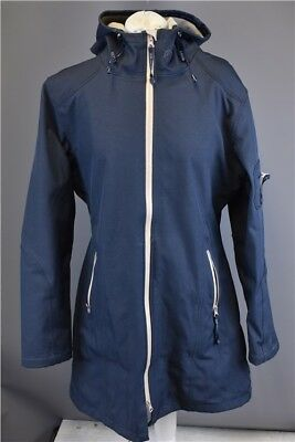 Ilse Jacobsen Navy Blue Womens Raincoat Size 42 UK 12/14 Approx Clothing