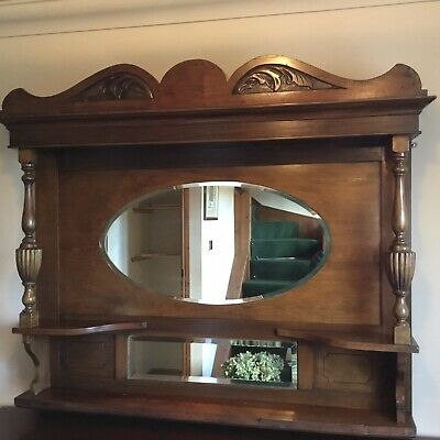 Mahogany Sideboard And Seperate Over Mantle Mirror