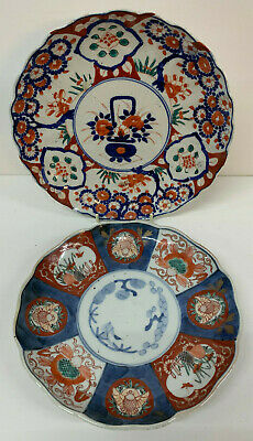 Antique Japanese  Imari Porcelain Plates plaques  x 2 19th Century
