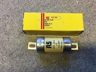 HRC Off Set Bolted Tag BS88 Fuse 50 Amp  RS Components A3