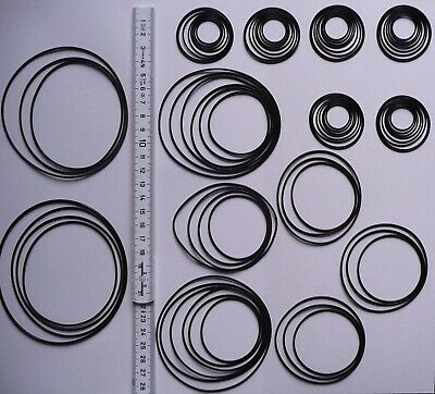 80 St. Rundriemen, Riemensortiment Riemenset, High Quality Round Rubber Belt Kit