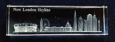 13cm Crystal Paperweight - London Skyline - Ideal Gift