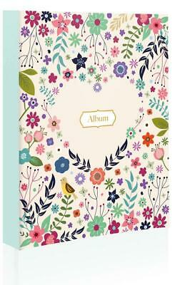 80 Holds Heart Shape Floral Wedding Photo Album Cover Gift Memories 4X6'' GIQQ1