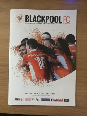 blackpool fc v southen united fc programme 17th march 2018
