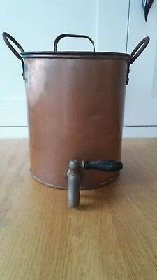 Vintage Large Copper Water urn with tap.