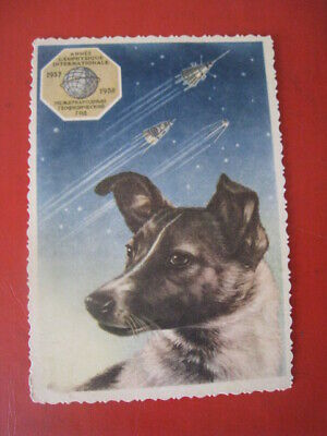 Wow!soviet Russian Vtg Writing Set Pen+thermometer Space Animals Dog Laika Layka Collectibles