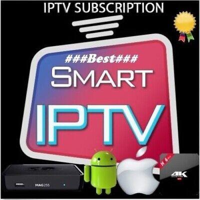 12 Months IpTv Subscription Premium for all Devices (SMART TV,MAG,iOS,Android..)