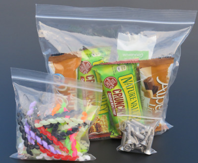 GRIP SEAL BAGS Clear Poly Self Resealable Polythene Plastic Ziplock - All Sizes