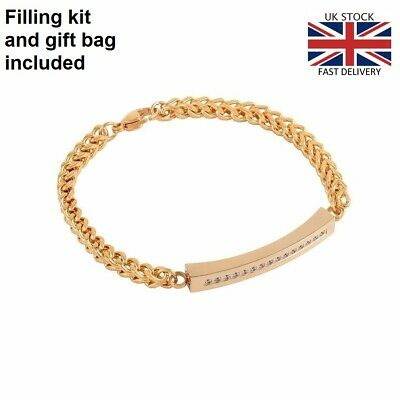 Gold Bracelet Bangle Keepsake Cremation Urn Ashes Funeral Memorial Jewellery