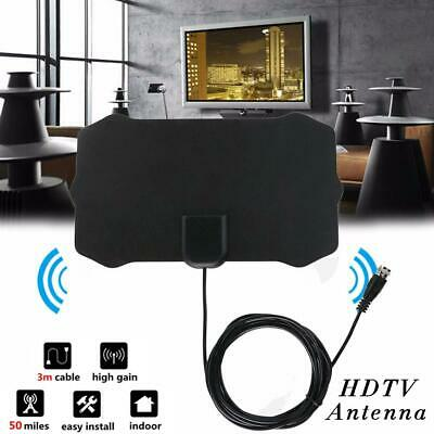 Thin Freeview Indoor Amplified Digital TV Aerial HDTV Antenna 50Mile Range 1080P