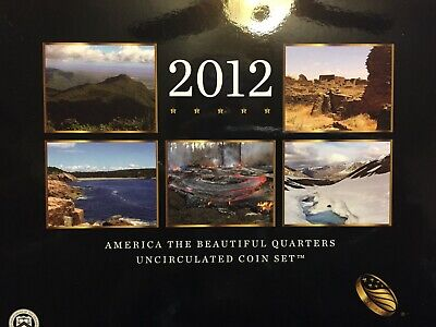 2012 America The Beautiful Us Mint Uncirculated 10 Coin Set