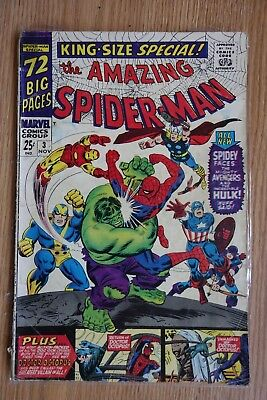 Marvel Amazing Spider-Man King-Size Special #3 (1966, Nov) Silver Age Comic