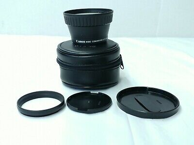 Canon WD-46 Wide Angle Lens Converter  0.7x 46 - Includes Case and Caps
