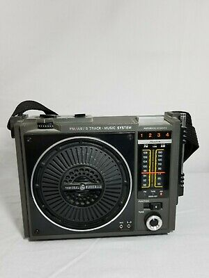 Vintage General Electric Model 3-5507C 8 Track Player AM/FM Radio Tested
