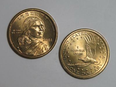 2002-D Sacagawea Native American Dollar - Uncirculated from US Mint Rolls