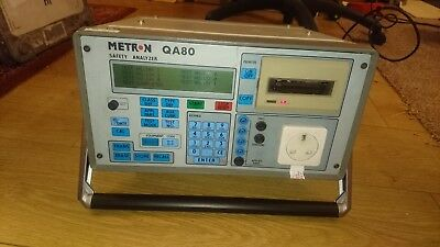 Metron QA80 Electrical Safety Tester Medical Grade B/BF/CF Class I/II Fluke PAT