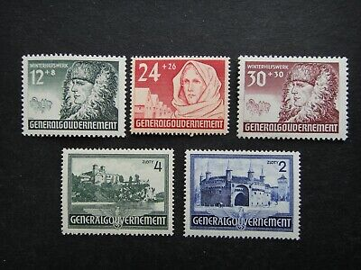 Germany Nazi 1940 1941 STAMPS MINT Poland under German Peasant Occupation Third
