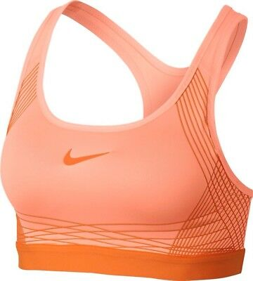 0d852a4e250 Wmns Nike Pro Classic Padded Bra Medium Support Size S Sunset Glow  (832068-832