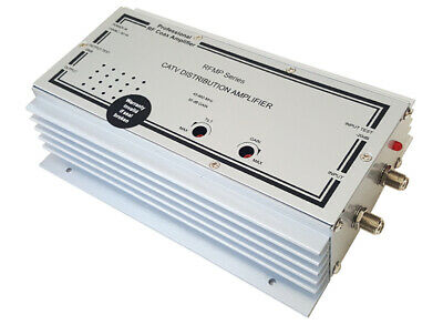 Super 50-dB CATV RF Coax Distribution Amplifier + Gain/Tilt Adjustment