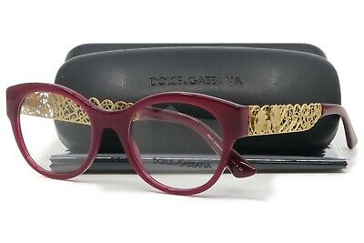 53558a010003 Dolce   Gabbana Women s Burgundy Glasses with case DG 3184 2681 50mm