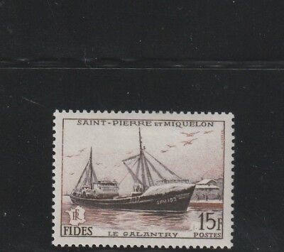 St Pierre & Miquelon - French Colonial - 1 Old Stamps Mh ( Spmi 791 )