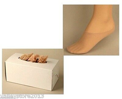 Disposable Shoe Store Mens Womens Try On 144 Socks Peds Footies Lot - 20 Boxes