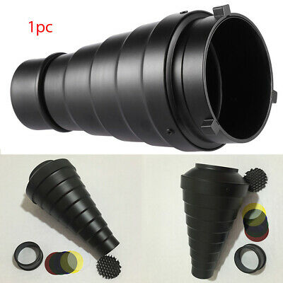 Conical Snoot Aluminum Alloy With Color Filter Easy To Use Honeycomb Strobe