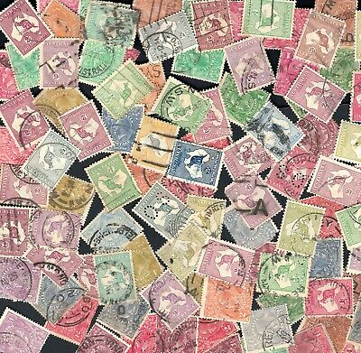 ESTATE Kangaroo 5/- kgv Pre Decimal on off paper mostly unchecked bundles incl.
