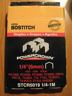 1 x Bostitch Tacker Staples STCR5019 6mm Box 1000  in stock (A)