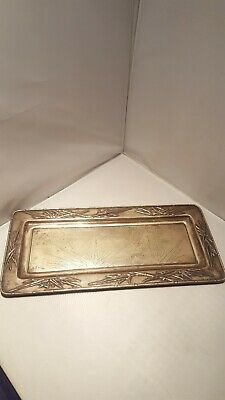 Chinese Silver Export Tray, Bamboo , Zeewo