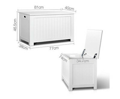 New Toy Storage Box Chest Kids Clothes Organiser Wooden Cabinet Containers White