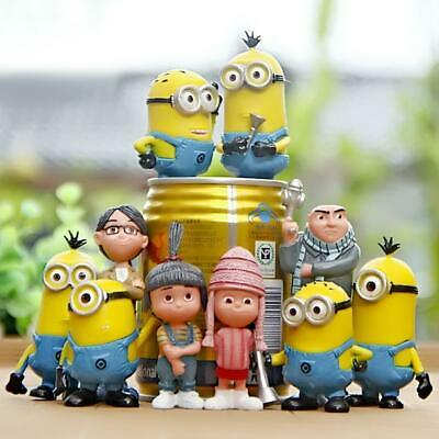 Minions Figures Despicable Me 2 Movie 6x Mini Action Set 2.5 inch Cute Toy Dolls