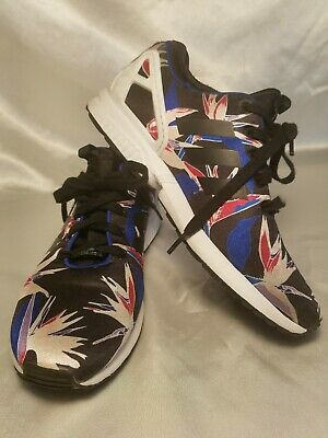 dfbb6a3f0 Adidas Mens Torsion ZX Flux bird of paradise 8.5 floral multicolor running  Blue