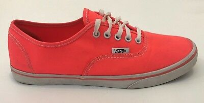 ea67abdade Vans Off The Wall Mens Authentic Lo Pro Shoe Neon Coral Size Mens 6.5 Womens  8
