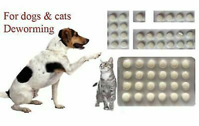 6 Tabs Dose Easy Wormer Dog Cat Worm Worming Tablets Roundworm Tapeworm