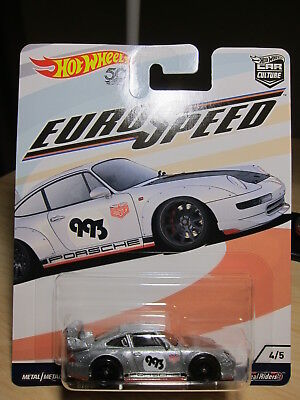 Porsche 993 GT2 Euro Speed Car Culture 1:64 Hot Wheels FLC17 FPY86